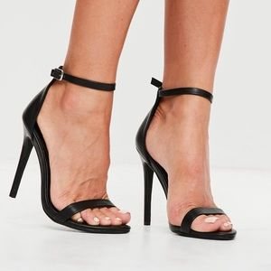 MISSGUIDED Two Strap Barely There Heels